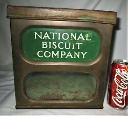 Antique Primitive National Biscuit Bakery Store Advertising Tin Cake Pantry Box