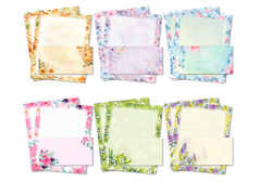 Stationary Writing Paper With Envelopes - Flora Stationery Set With Lined Letter