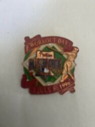 1996 Baseball All Star Game Press Pin Phila. Phillies Button Workout Day Vg
