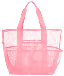 Large Mesh Beach Tote Bag Multi funtional Big Travel Grocery Lightweight $12.99