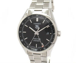Green Shop Pawn Tag Heuer Carrera Twin Time Gmt Wv2115.ba0780 Secondhand