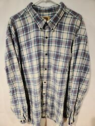 The Foundry Supply Co Mens Plaid Long Sleeve Button Down Flannel 3XL Check