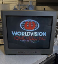 """Emerson Tv Ewf2004a Flat Panel 20"""" Crt Gaming Vintage With Remote Tested"""