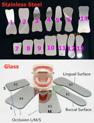 Dental 2 Sides Intra Oral Reflector Mirrors Ss Glass Photographic Mouth Mirror