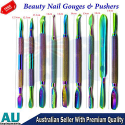 Pedicure And Manicure Cleaner Nail Beauty Nail Gouges And Pushers Double Ended