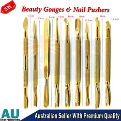 Spoon Nail Gouge Cuticle Pusher Manicure Pedicure Beauty Nail Gouges