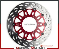 Front Floating Disc Light Discacciati For Suzuki B - King Fdr524 2008 2010 Red