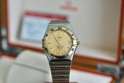 Omega Constellation Auto Solid 18kt Full Bar Gold 1202.10 Champagne Dial 2009