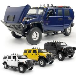 132 Hummer Suv Off-road Vehicle Abs And Diecast Model Car Toys Boys Gifts