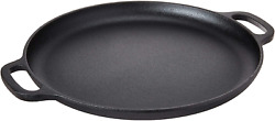 Cast Iron Pizza Pan Flat Skillet Baking Plate Kitchen Cookware For Oven 14 Inch