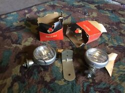 Nos Pair Vintage Driving Lights Signal Stat Car Truck Bus Lamp Old Hot Rod