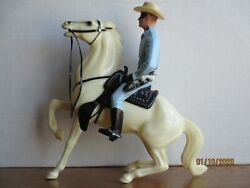 Vintage 1960's Hartland Traditional Lone Ranger W/semi Rearing Silver Complete