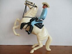 Vintage 1950's Hartland Traditional Lone Ranger W/full Rearing Silver