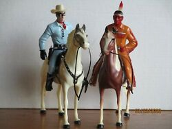 Vintage 1950's Hartland Traditional Version Lone Ranger And Tonto Complete