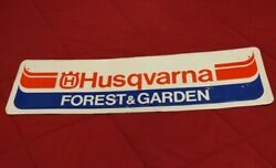 Vintage Collectible Husqvarna Forest And Garden Metal Advertising Embossed Sign
