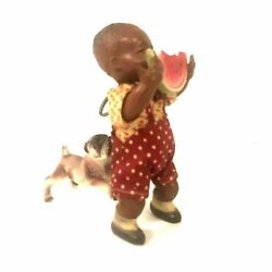 Poor Pete Crying Boy Windup Toy, Eating Watermelon, Vintage, Celluloid