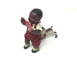 Poor Pete Crying Boy Windup Toy, Eating Watermellon, Vintage, Celluloid