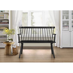 Entry Wood Bench Kitchen Table Accent Front Door Bedroom Foyer Farm Country