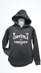 New Washington Capitals 8 Alexander Ovechkin Youth Size L 14/16 Gray Hoodie