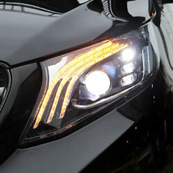 Headlight Assembly For Benz Metris Hid Projector Led Drl Sequential Signal 16-20