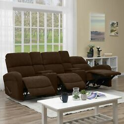 Copper Grove Herentals Brown Chenille 3-seat Recliner Sofa Brown Transitional, M