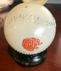 1940and039s Detroit Tigers Glass Baseball Bank By Mobil Oil Pegasus Gas And Oil