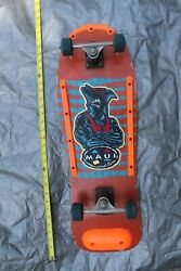 Maui And Sons Venice 80's Neon Muscle Shark Surfer Vintage Skateboard Complete