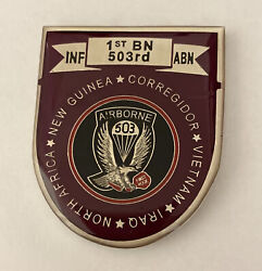 503rd Airborne Regiment The Rock For Excellence Challenge Coin R9