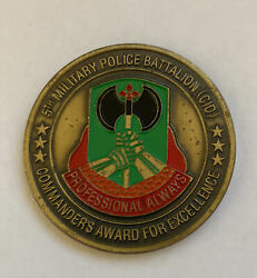 5th Military Police Battalion Cid Command For Excellence Challenge Coin R9