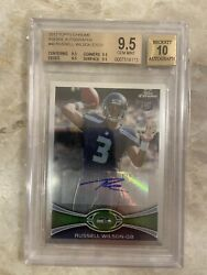 Russell Wilson Autographed Graded 9.5 Rookie Card