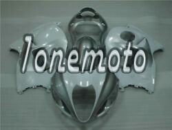 Fit For 1997-2007 Gsx-r 1300 White Silver Abs Injection Fairing Bodywork Kit Ag
