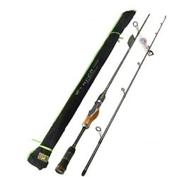 2secs Spinning Fishing Rods Wood Handle Casting High Carbon Metal Stick Canna