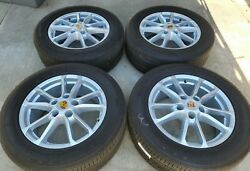 18 Good Used Oem Original Factory Made In Germany Porsche Cayenne Wheels Tires.