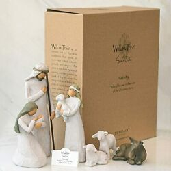 Willow Tree Nativity_sculpted Hand-painted Nativity Figures 6-piece Set_26005