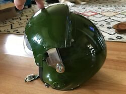 Chinese Army Green Military Fighter Pilot Helmet With Two Visors Red Star