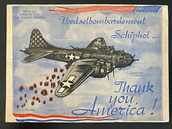 Netherlands Us Air Force Picture Postcard Good For Starving Holland
