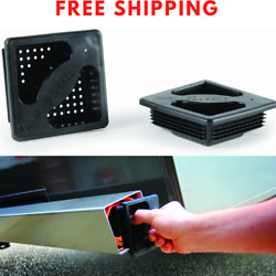 Rv Bumper End Caps Camper Trailer No-insect Cover Protector 4 Square Pack Of 2