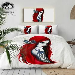 City Ariel By Pixie Cold Art Bedding Set Girl Duvet Cover With Pillowcases