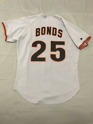 Authentic Barry Bonds San Francisco Giants Russell Athletic Jersey Size 44