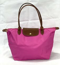 New Longchamp Le Pliage Classic Tote Bag L Bubble Pink 1899 Made In France