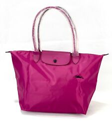 New Longchamp Le Pliage Club Tote Bag L Magenta 1899 Made In France