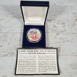 1999 American Eagle Walking Liberty 1 Troy Oz .999 Silver Colorized Dollar Coin