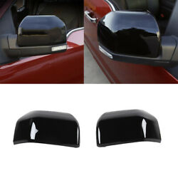Exterior Rear View Side Mirror Cover Trim Decor Shell For Ford F150 2015+ Black