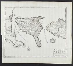 Valentijn - Map Of The Island Of Bali. 31, 1726 East India Original Engraving