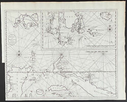 Valentijn - Map Of Mindanao And Moluccas. 40, 1726 East India Original Engraving