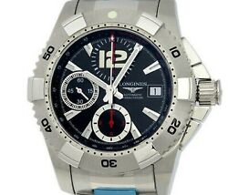 Longines Hydroconquest L3.651.4 Automatic Black Dial Stainless Steel Men's