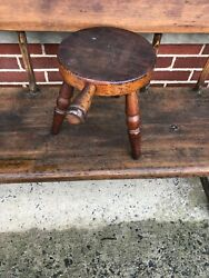 Vintage Wooden Milking Stool Pilgrim Authentic Furniture Products
