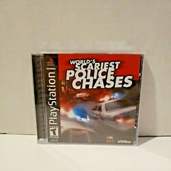 Worldand039s Scariest Police Chases Sony Playstation 1 Ps1 Complete W/manual Tested