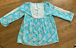 Crown amp; Ivy Turtle Print Size Small Women#x27;s Shirt Beach Coverup $9.99