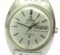 Omega Constellation Wg Bezel Day-date 168.028 Cal.751 Automatic Winding Mens